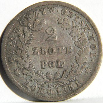 Poland 1831 November Uprising silver 2 Zlote Revolutionary coinage