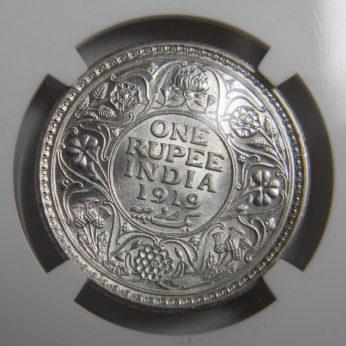 India 1919C silver Rupee, Calcutta mint