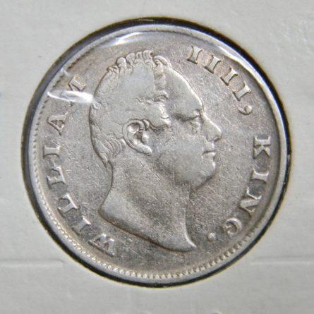 British East India Company 1835 silver Rupee