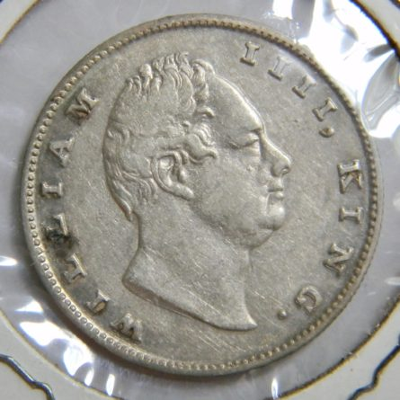 East India Company 1835 silver Rupee-scarce thin lettering