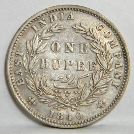 Victorian 1840 silver Rupee-East India Company
