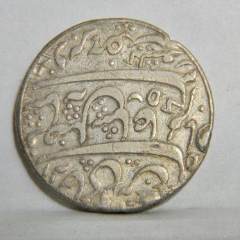British INDIA-Bengal Presidency silver Rupee, year 70, counter-struck rim