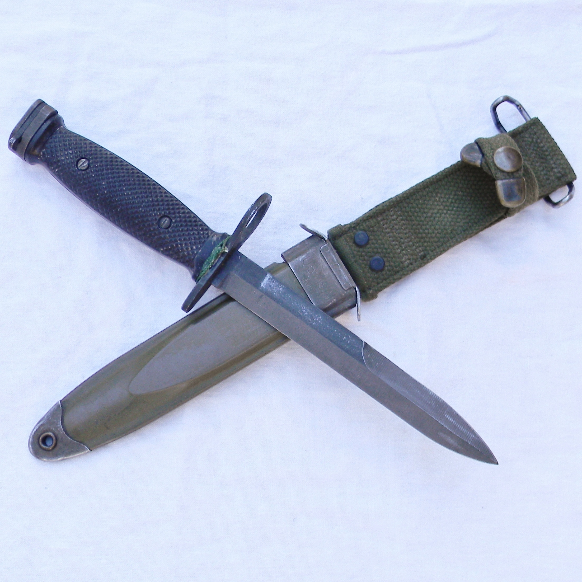 Vietnam War era US M7 bayonet for M16 by BOC, original M8A1