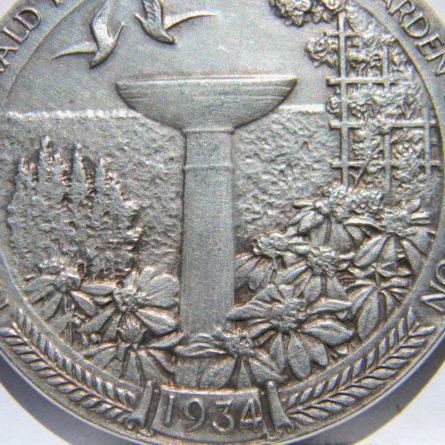 1934 New York Herald Tribune Yard & Garden Competition silver medal