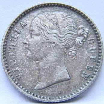 East India Company 1840 silver 1/4 Rupee