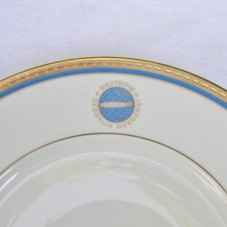 GRAF ZEPPELIN airship dinner plate DEUTSCHE ZEPPELIN REEDEREI Heinrich Co