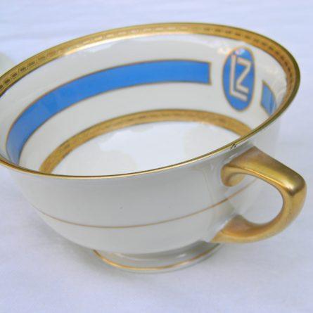 1928 GRAF ZEPPELIN porcelain tea set Heinrich Co Bavaria