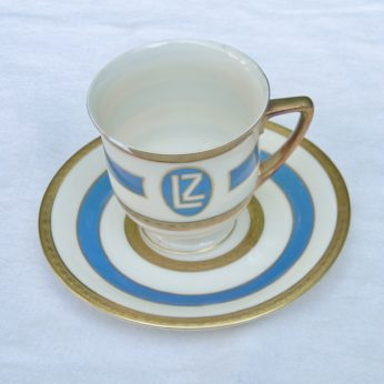 Airship GRAF ZEPPELIN 1928 Heinrich Co porcelain cup saucer