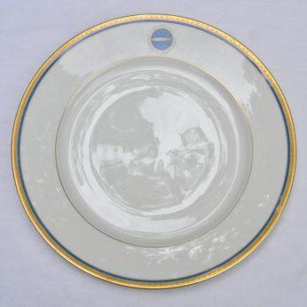 GRAF ZEPPELIN airship 9-5 inch dinner plate DEUTSCHE ZEPPELIN REEDEREI Heinrich Co