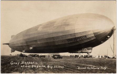 LZ127 Graf Zeppelin-1929 LI landing