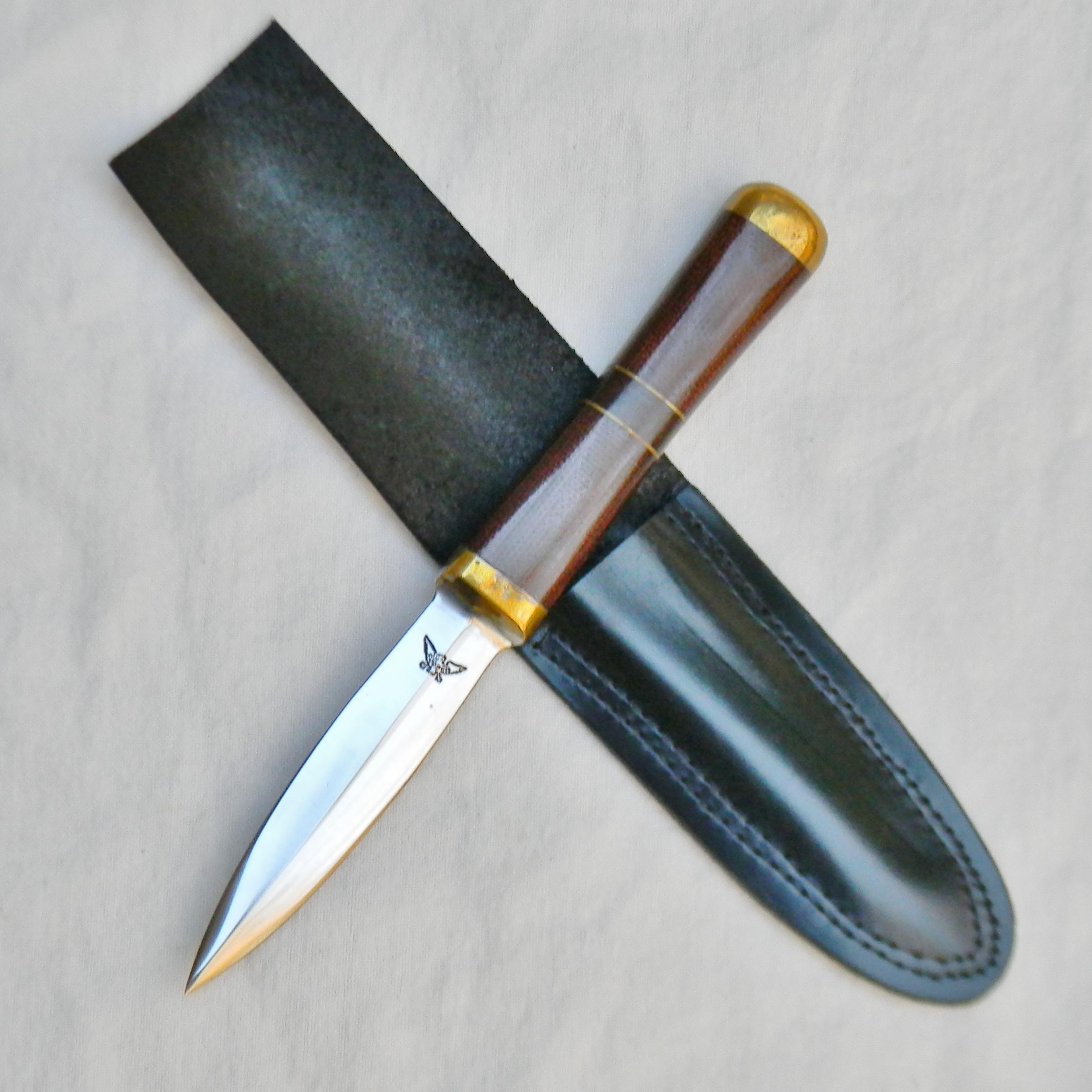 Rare John Nelson Cooper Custom Boot Knife Dagger Original Sheath