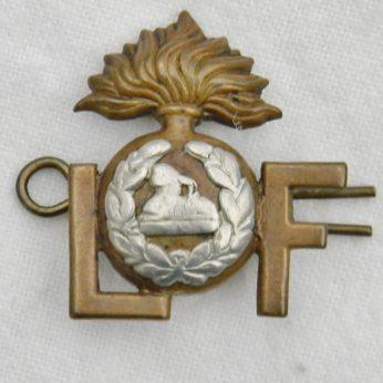 WW1 Lancashire Fusiliers Regiment shoulder title pin badge