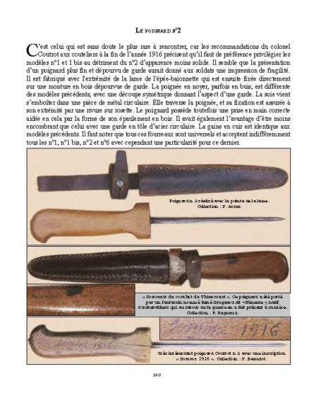 WW1 French trench knife fighting dagger
