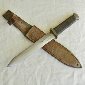 WW2 American fighting dagger theater knife identified