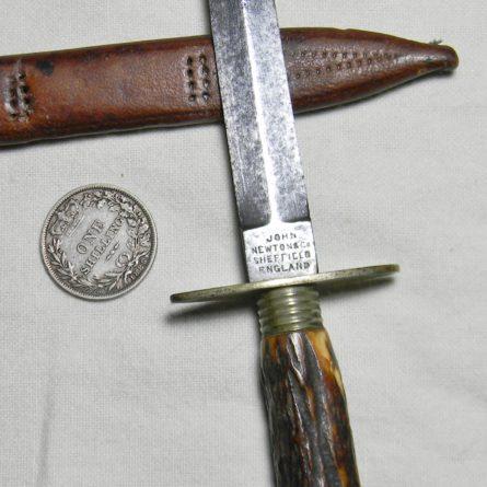 John Newton Company Sheffield England garter dagger