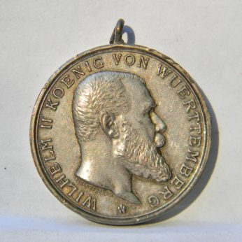 GERMANY Wurttemburg WW1 FOR BRAVERY LOYALTY silver medal