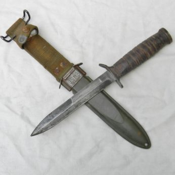 WW2 Utica M3 Trench Knife American Fighting Knife M8 scabbard