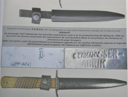 WW1 Germany DEMAG Kampfmesser fighting knife trench dagger