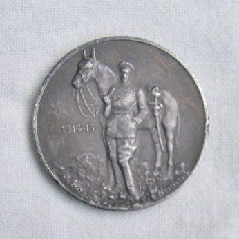 GERMANY Prince Wilhelm WW1 Kronprinz Hussar cavalry 1915 silver medal