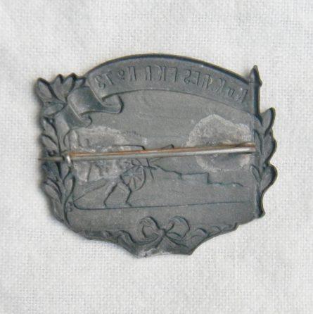 WW1 AUSTRIA 73rd Field Cannon Regiment cap badge RES FKR