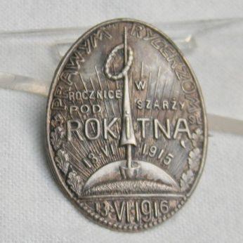 Poland WW1 1915 Rokitna Charge badge 1916 Odznaka PRAWYM RYCERZOM