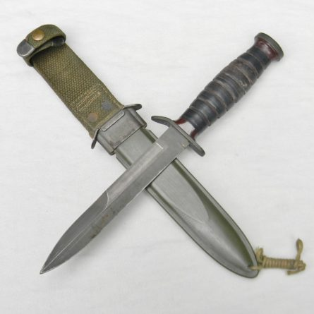 WW2 American Fighting Knife Imperial M3 TRENCH KNIFE M8 scabbard