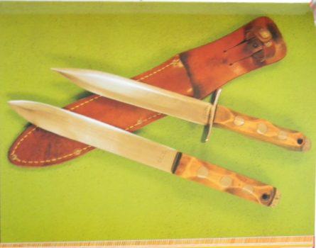 WW2 John Ek American fighting knife 2J299 dagger identified