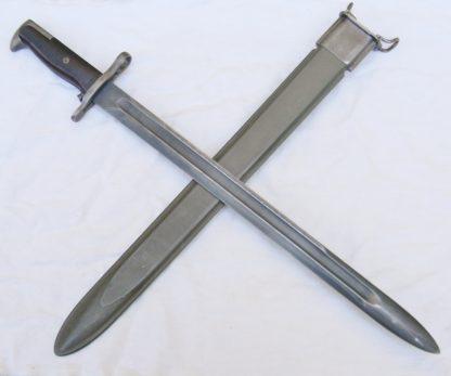 WW2 uncut UFH BROWN grips handle M1905 bayonet
