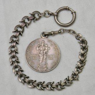 Germany vintage Bavarian 1855 Two Gulden silver pocket watch fob