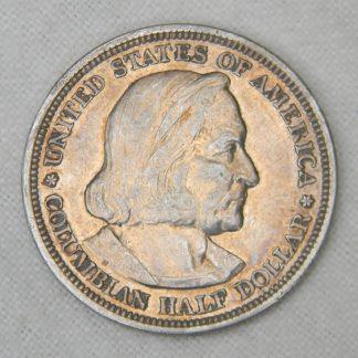 USA 1893 Chicago Exposition silver Columbus Half Dollar coin