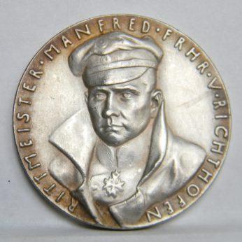 KARL GOETZ 1918 Manfred Richthofen Red Baron K-288 silver medal