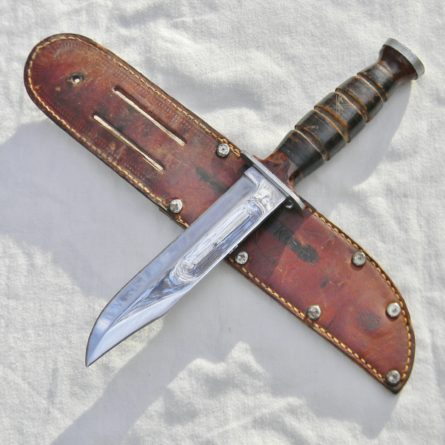 KA-BAR Polished Commando WW2 American fighting knife