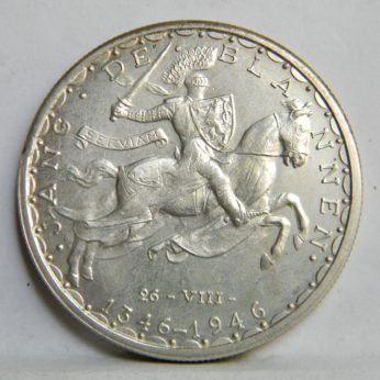 Luxembourg silver 1946 100 Francs