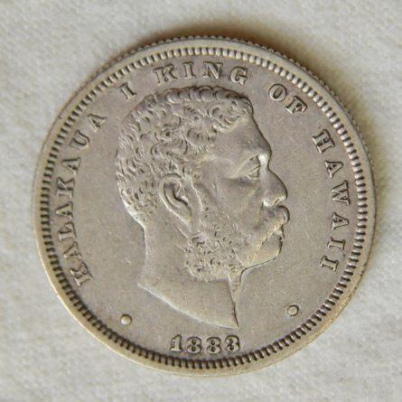 HAWAII 1883 silver Hapalua 50 Cents