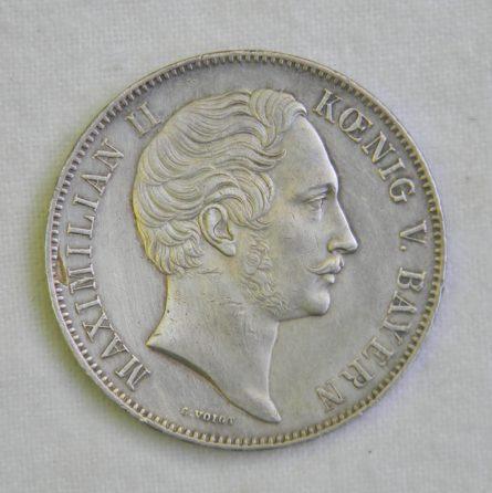 German States Bavaria 1855 silver 3.5 Gulden 2 Thaler