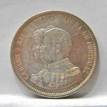 PORTUGAL 1898 silver 1000 Reis