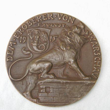 Germany Karl Goetz 1915 Warsaw capture bronze medal
