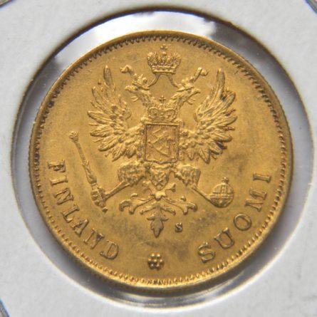 Finland 1878 gold 10 Markkaa