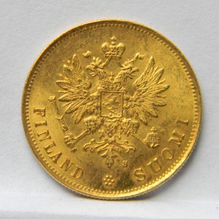 Finland gold 1881 10 Markkaa