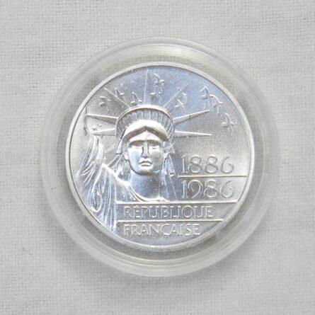 FRANCE 1986 silver PIEDFORT 100 Francs