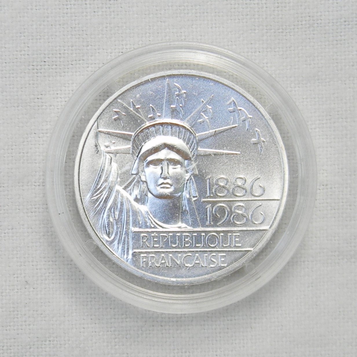 Free Shipping USA Silver 100 Franc France Piedfort Statue of Liberty 3 1986
