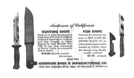 Anderson knives ad, M1913 fighter