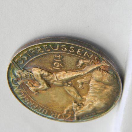 Germany WW1 1914 Hindenburg silver medal