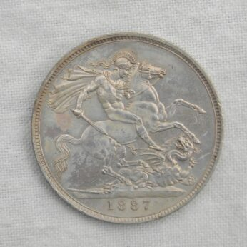 GB Great Britain Victoria 1887 silver Crown