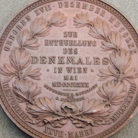 Austria 1880 Ludwig Beethoven bronze medal