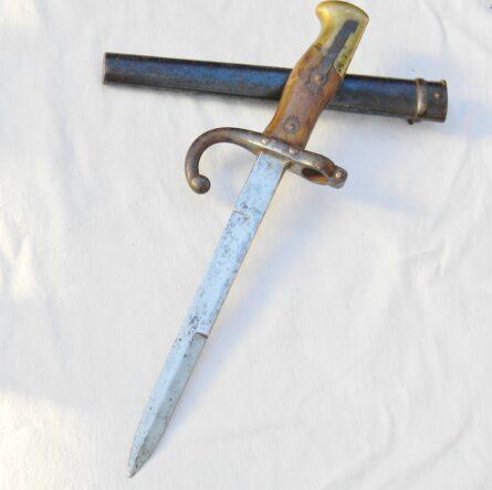 France WW1 M1874 Gras bayonet fighting dagger