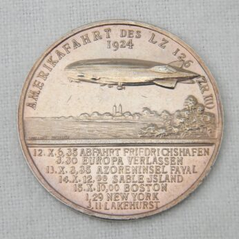 GERMANY 1924 airship LZ126 990 silver medal