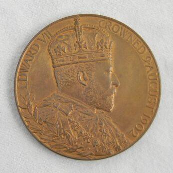 GB Edward VII 1902 bronze Coronation medal