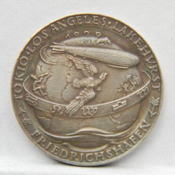 Germany Karl Goetz 1929 Graf Zeppelin silver medal