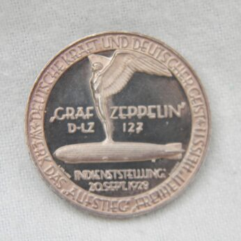 Germany 1928 silver medal airship Graf Zeppelin